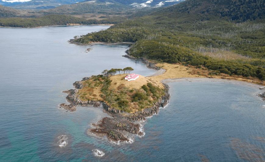 Aerial view of Cape San Isidro