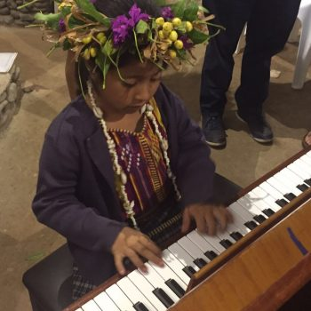 An Ecuadorian piano student of the Music School