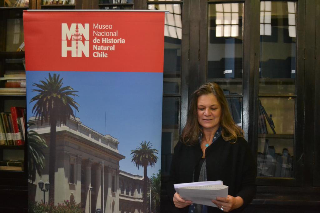 Madeline Hurtado, President of FMA delivering a short speech