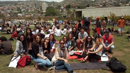 Our Active Teachers in the Valparaíso Cultural Park for John Luther Adam's outdoor concert titled Inuksuit