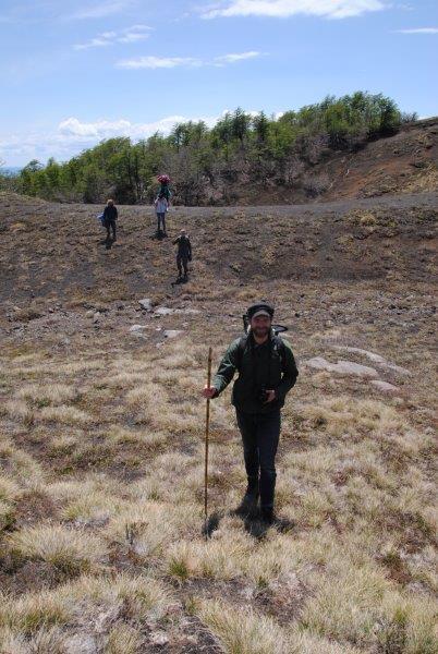 Última excursión en Bosque Pehuén camino a la base del Volcan Quetrupillán