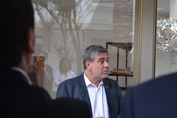 Eduardo Silva, Dean of Universidad Alberto Hurtado expressing his gratitude towards Fundación Mar Adentro