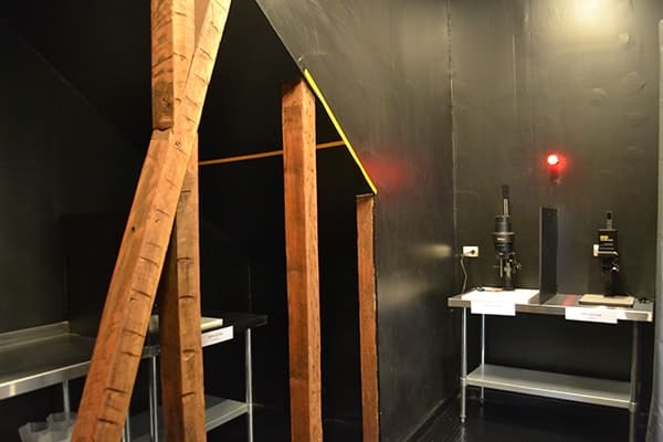 The darkroom was equipped with three enlargers