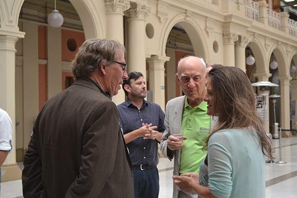 Ralph Benson from Chile - California Exchange, Madeline Hurtado from Fundación Mar Adentro and Peter Kennedy from Fundación Kennedy.