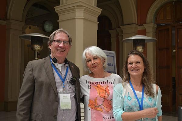 Ralph Benson, Catherine Kenrick from Andino Juncal Park and Madeline Hurtado.