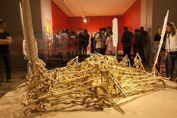 Animaris Vulgaris, first Strandbeest created by Jansen an importante key piece of this exhibition.  ©Sebastián Mejía