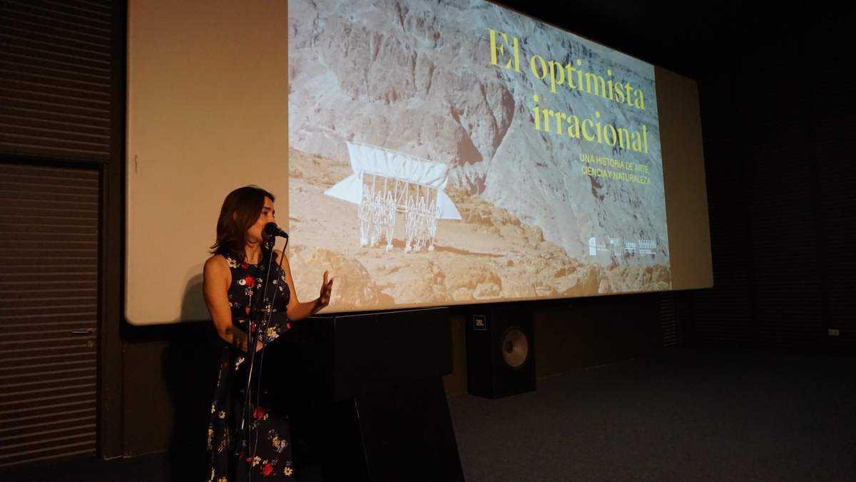 Ángela Pabón, Directora Ejecutiva de FMA, Presentando Documental en Cineteca, Santiago