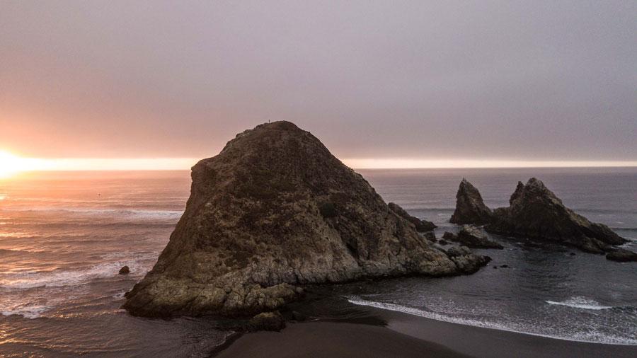 Fotografía de borde costero de Topocalma de Pablo Palma Calderón