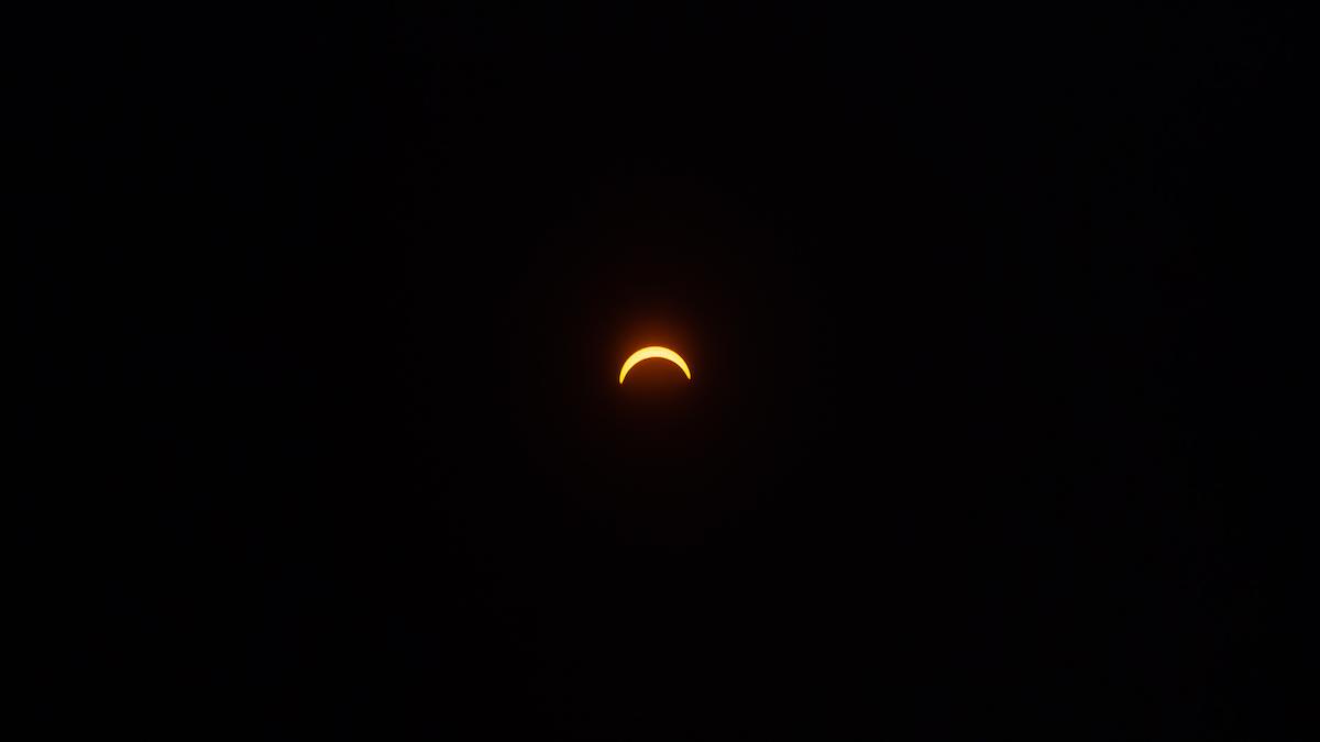 Fotografía de eclipse ©Eugenio Errázuriz